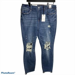 Just Blue High Wasted Distressed Jeans